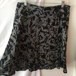 Patterned Ann Taylor Skirt